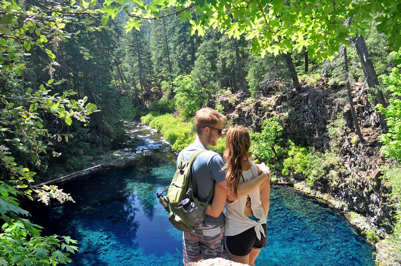 Blue Pool Oregon Katie and Ben
