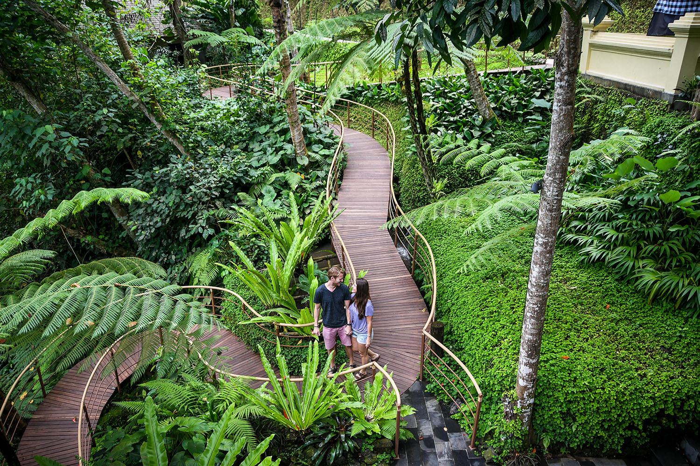 Komaneka at Bisma Ubud Resort Review Wooden Walkway