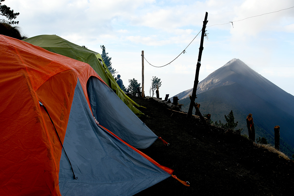 Things to Do in Antigua Guatemala: Volcan Fuego Tents