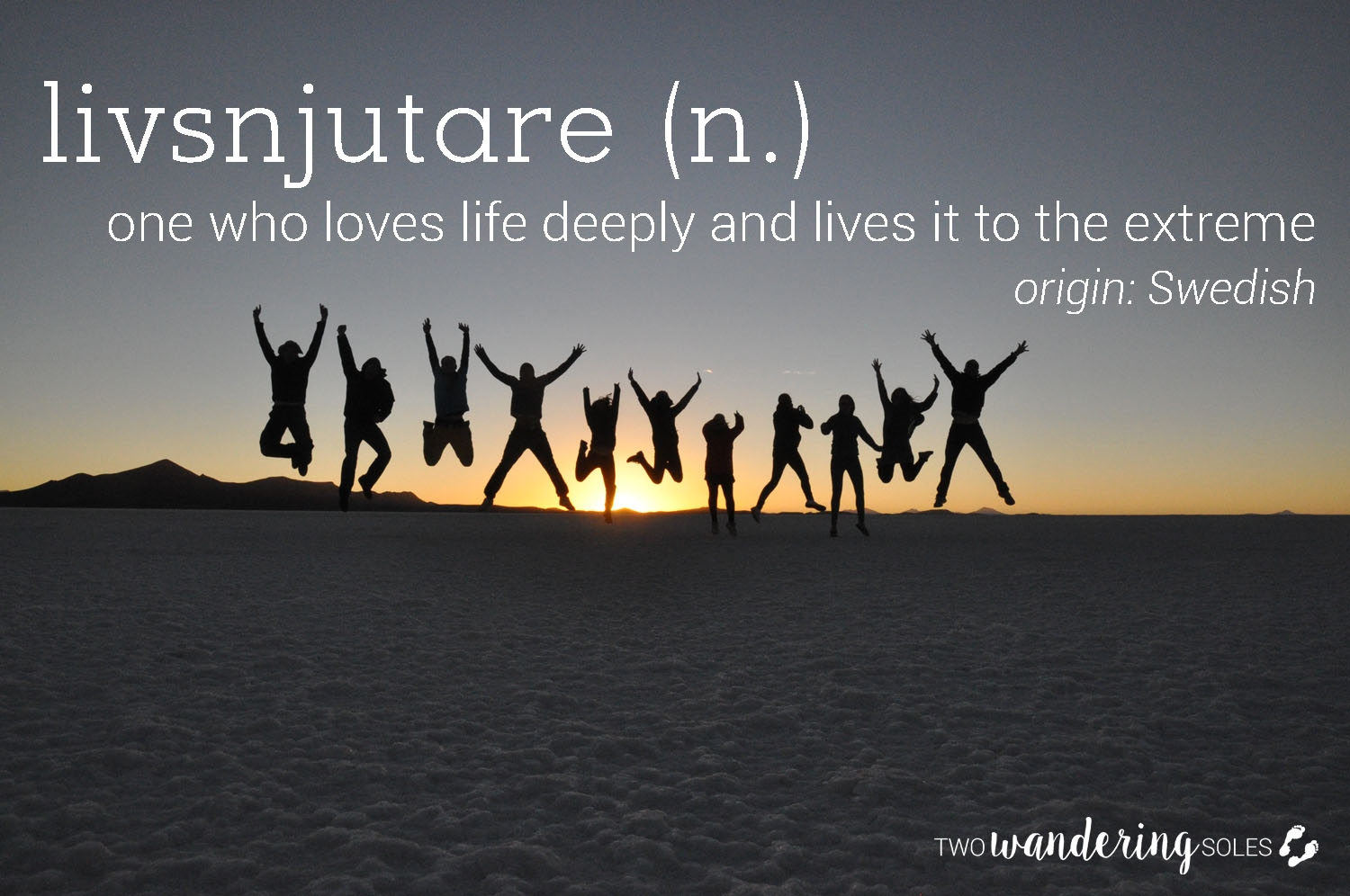 Livsnjutare Awesome Travel Words