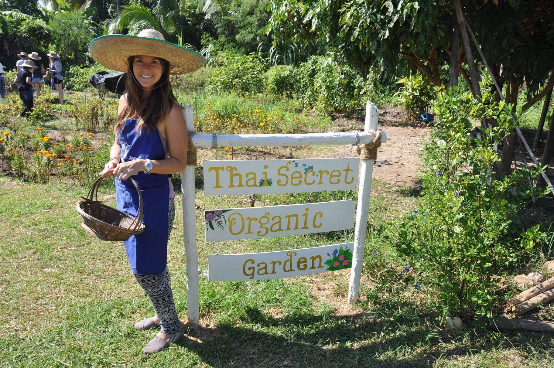 Picking Vegetables Secret Thai Cooking School Unique Experiences In Chiang Mai Thailand