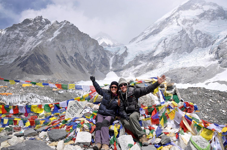 Everest Base Camp Itinerary: Sitting at Everest Base Camp