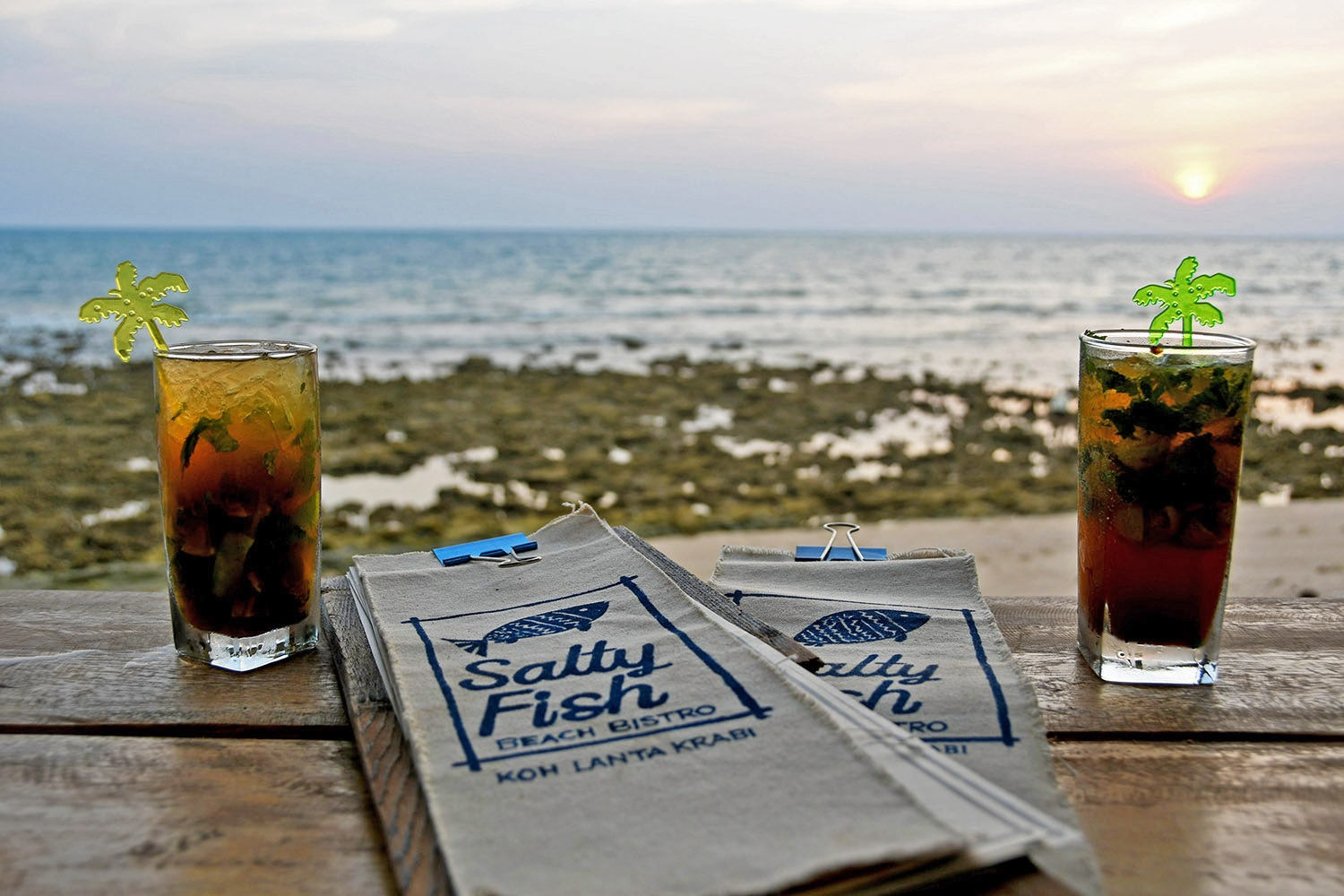 Things to do in Koh Lanta Thailand sunset Salty Fish