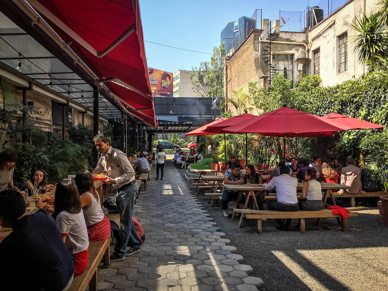 3 Days in Mexico City Itinerary Jardin Chapultepec Beer Garden