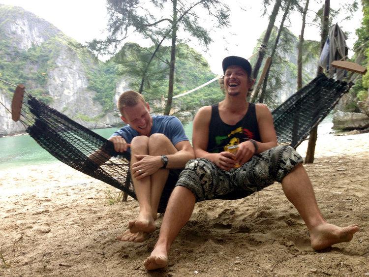 Ha Long Bay Hammock Laugh Freedom Island Vietnam Itinerary
