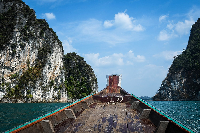 Khao Sok National Park Travel Guide Cheow Lan Lake Longtail boat