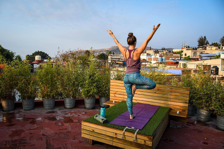 Oaxaca rooftop yoga