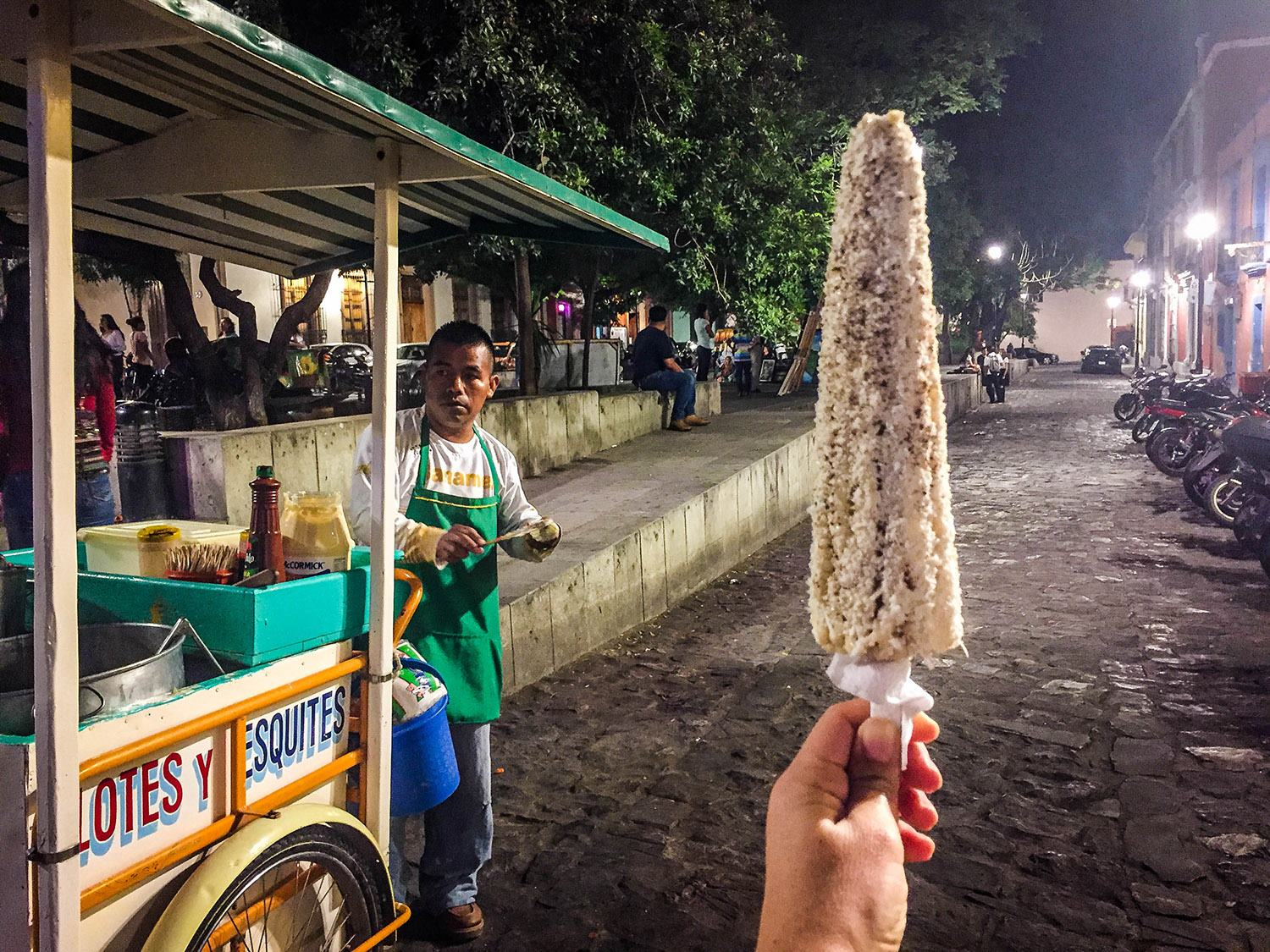 Things to Do in Oaxaca Mexican Food Street Corn