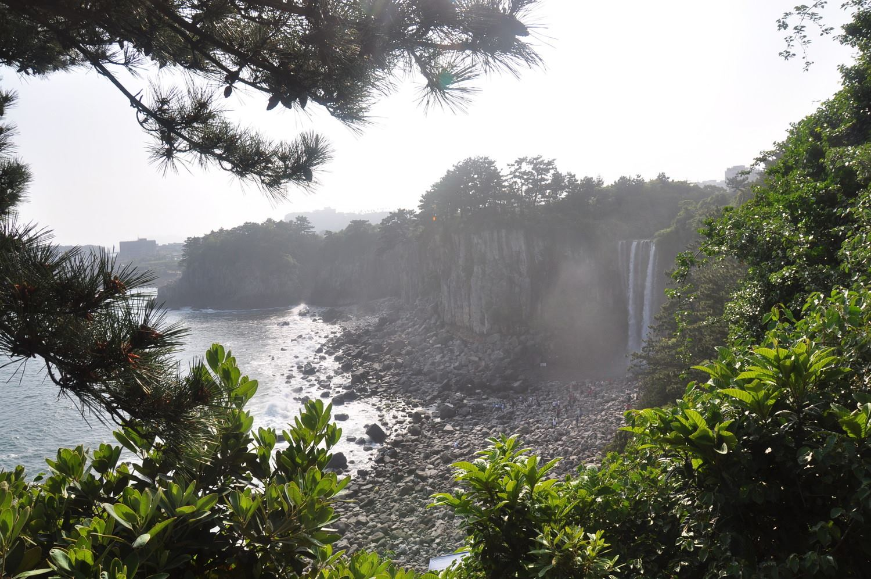 Jeju Jeongbang Waterfall
