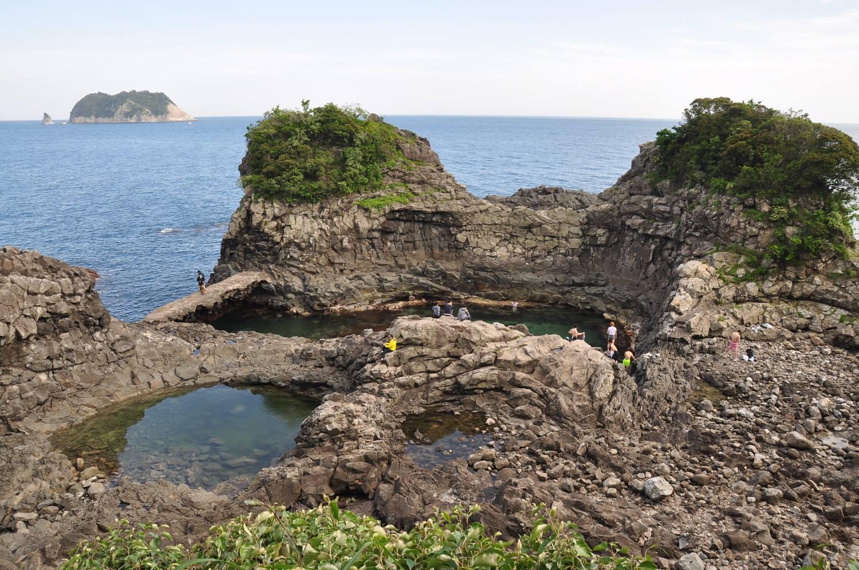 Natural Swimming Pool Jeju Korea Near Oedolgae Rock
