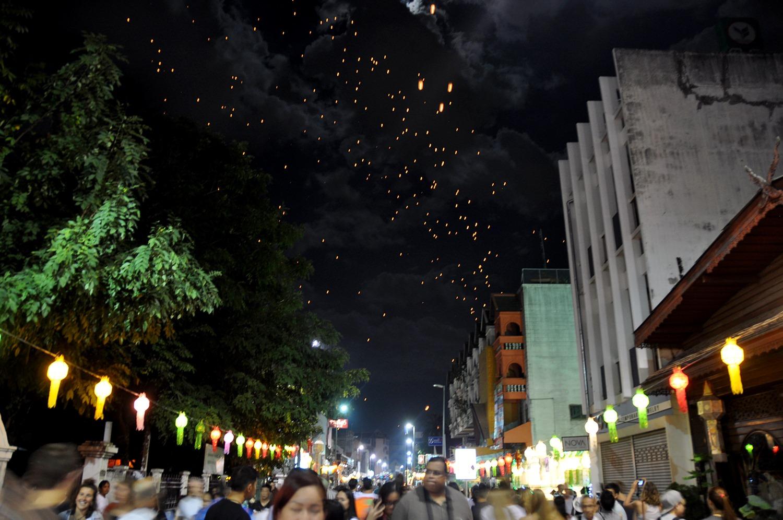 Yi Peng Loy Krathong Chiang Mai Thailand lantern release