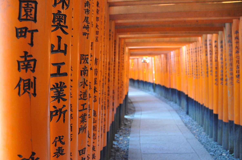 Fushimi Inari Orange Gates Kyoto Japan