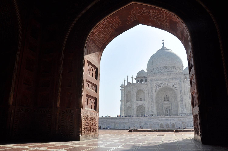 Taj Mahal unique perspective