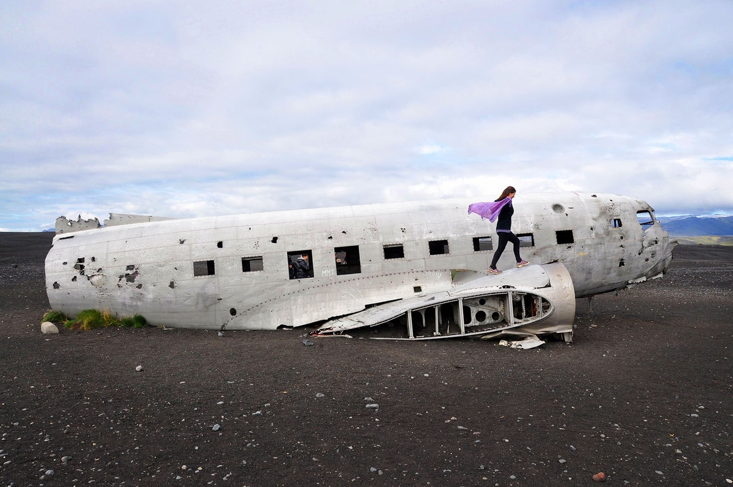 Airplane wreck Iceland