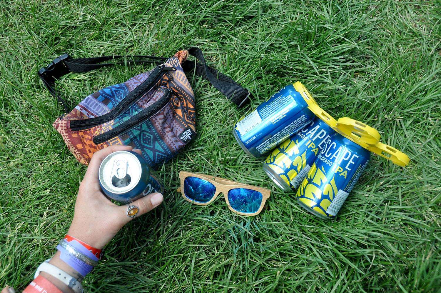 Campervan Gear Packing List Sunglasses and Fanny
