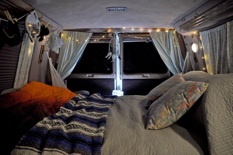 Campervan Gear Packing List Night time lights