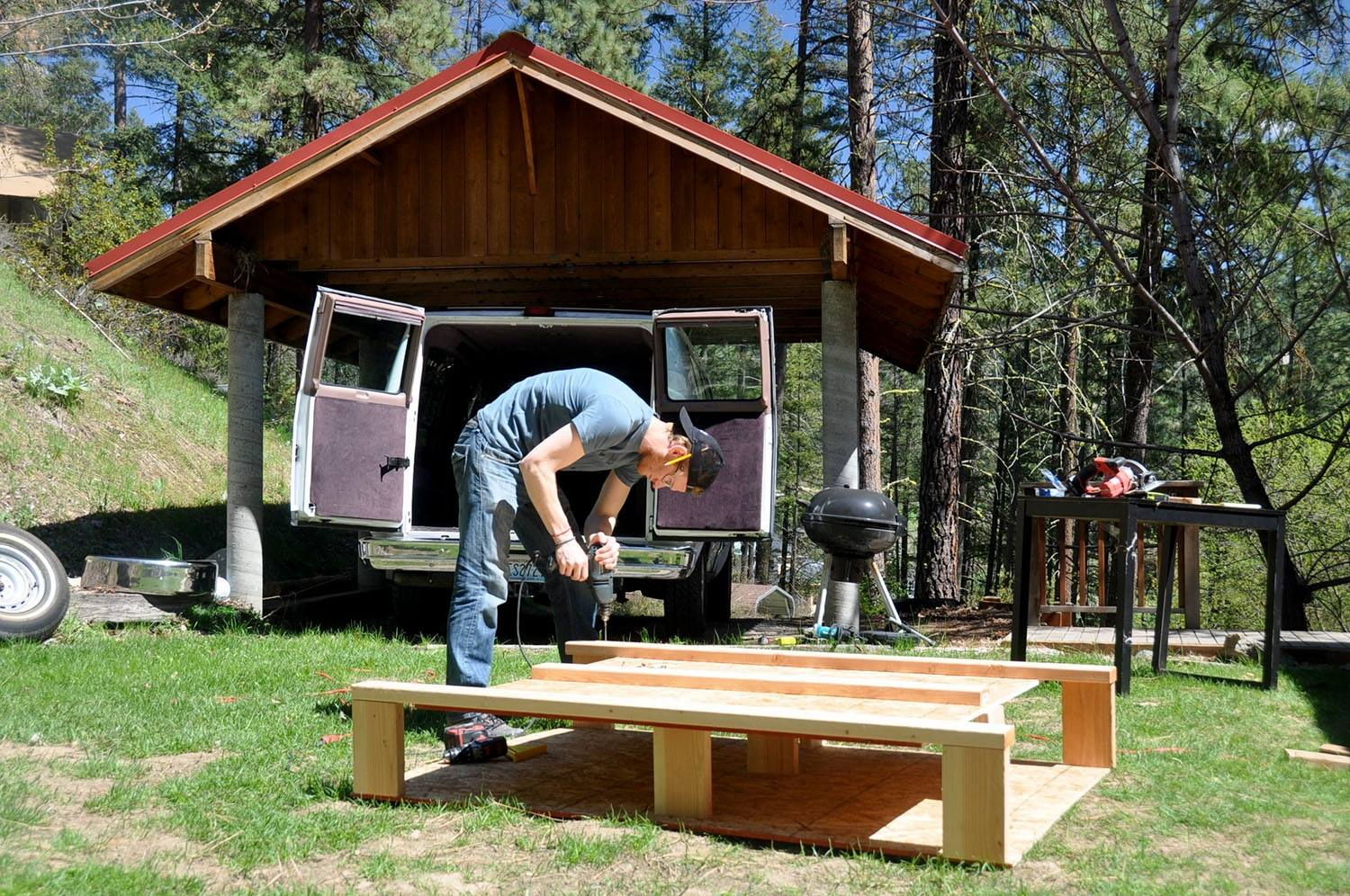 DIY Campervan Bed Platform