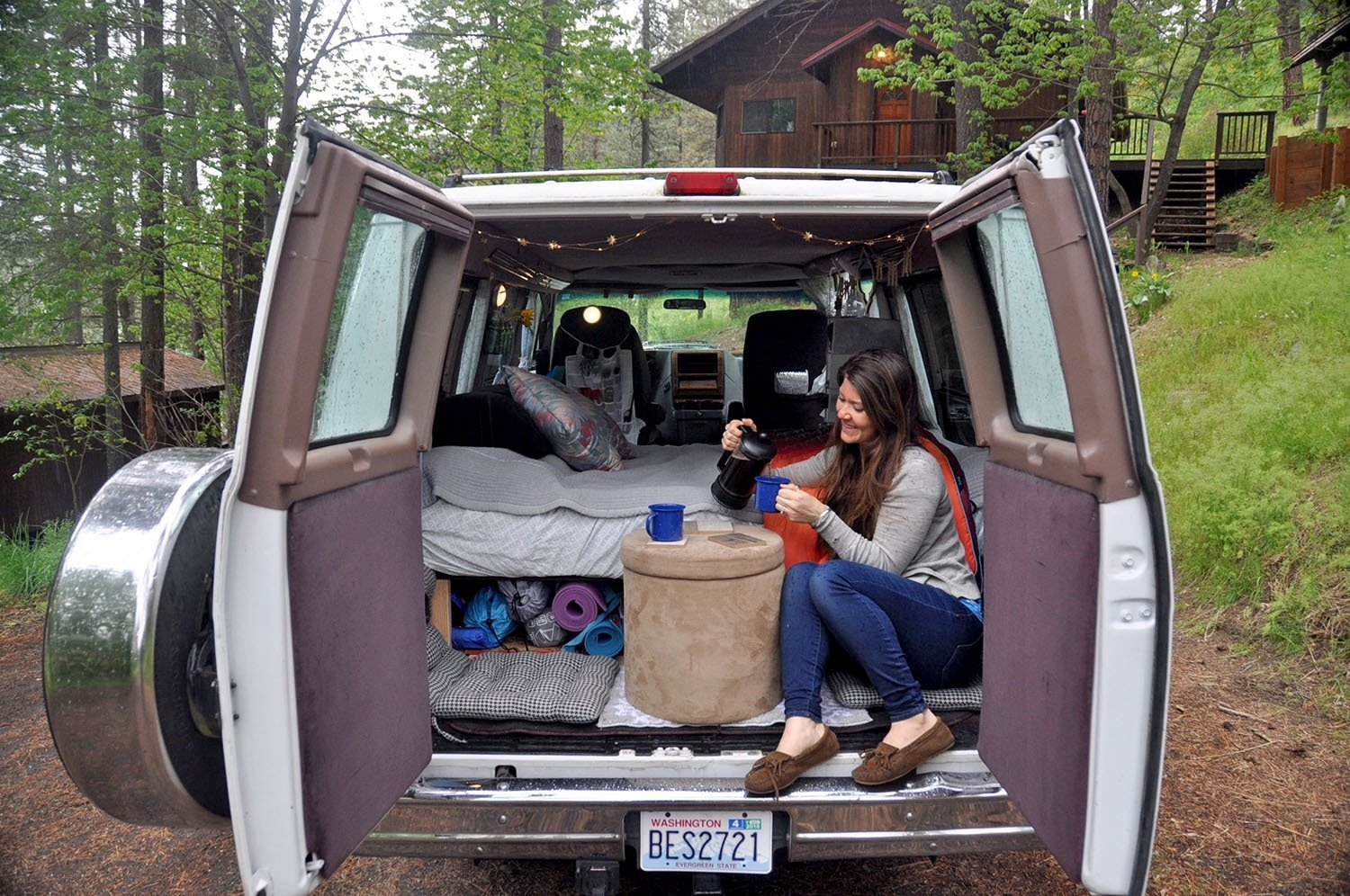 Campervan living coffee