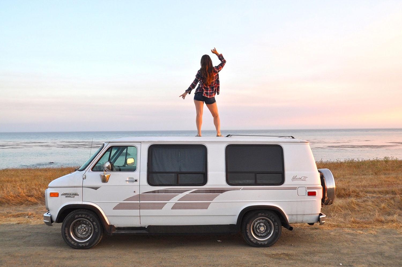 Van Life Q&A Van on Beach