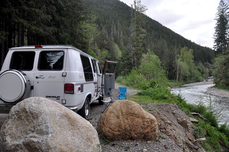 Van Life Q&A Parking by a river