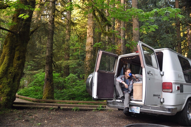 Van Life Q&A Van in the Woods