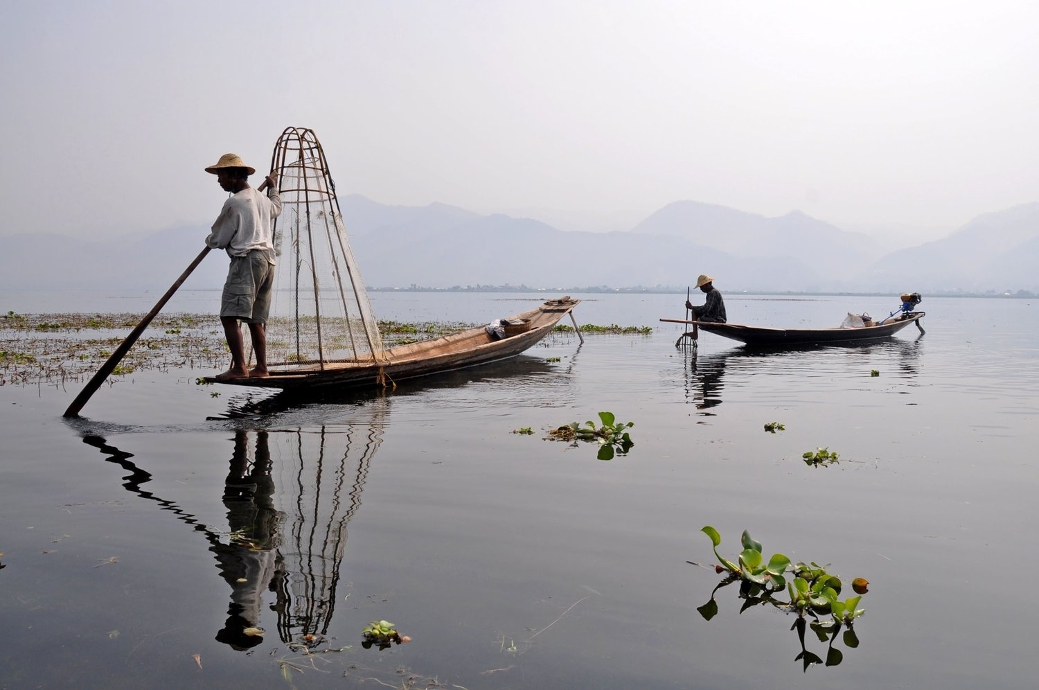 Inle Lake Fisherman Myanmar