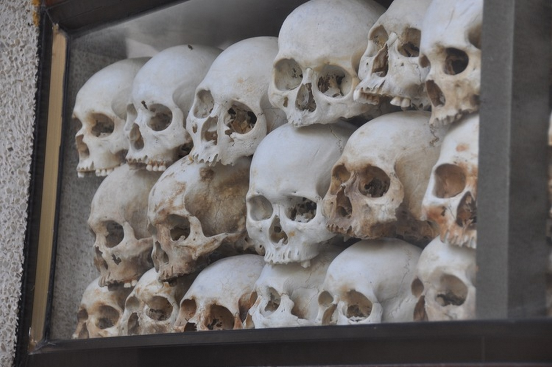 Killing Field skulls Phnom Penh