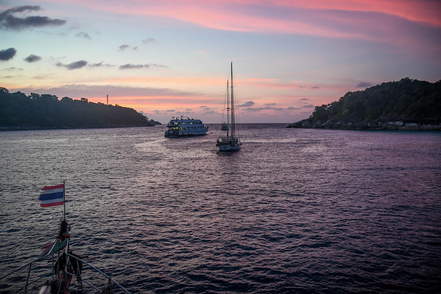 Similan Islands Liveaboard Wicked Diving Thailand Sunset