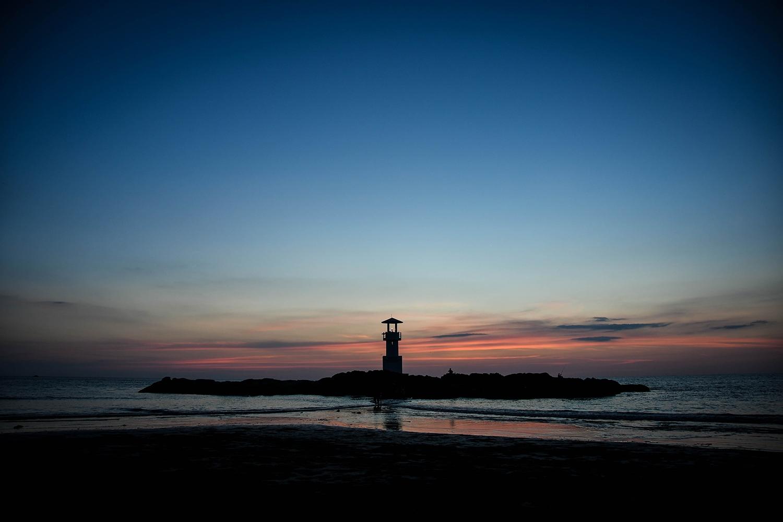 Khao Lak Thailand lighthouse sunset