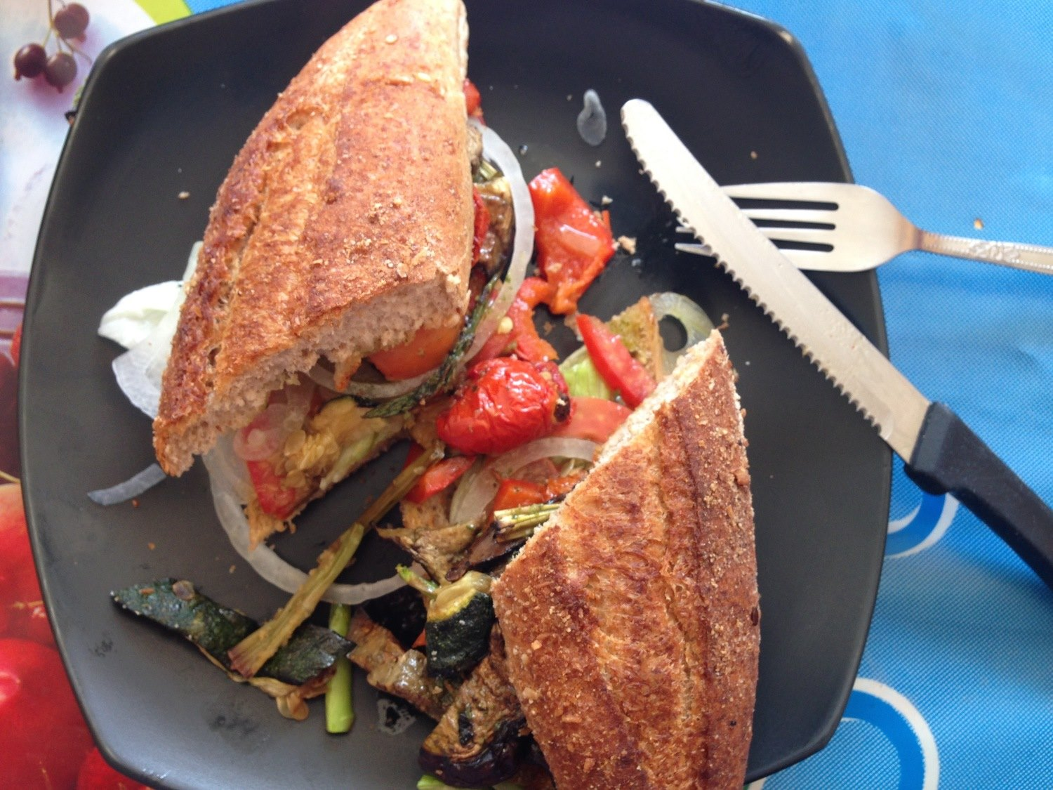 Where to eat in Koh Tao Zest Cafe Veggie Sandwich