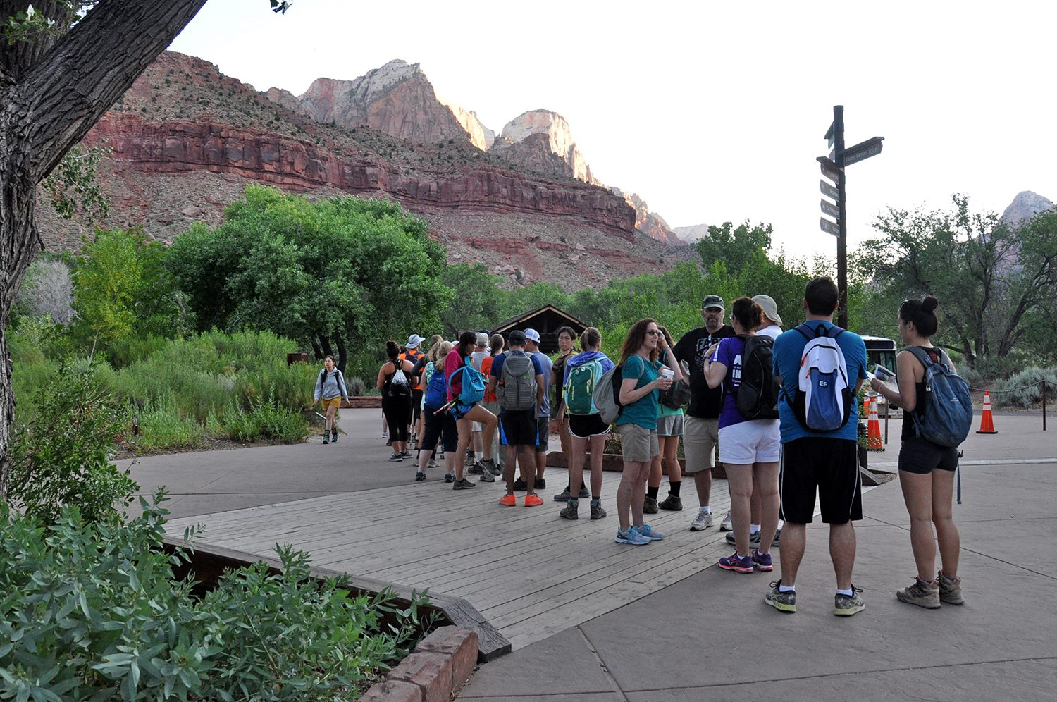 Crowds at Zion National Park