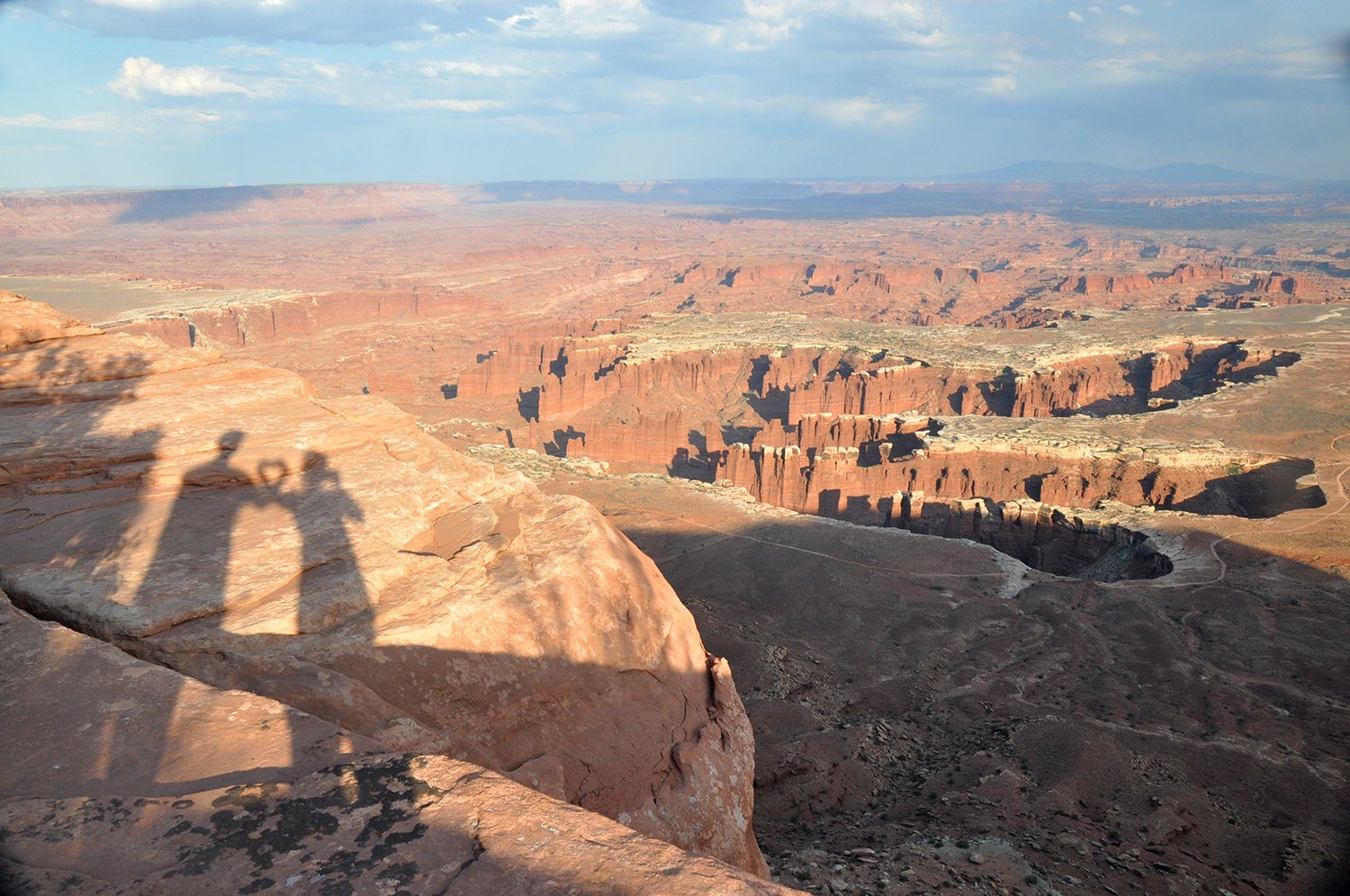 Grand View Point Overlook Canyonlands Shadows
