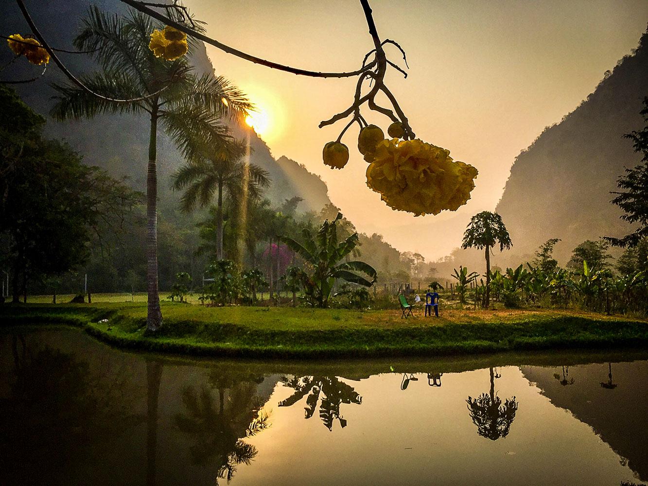 Meditating in Thailand