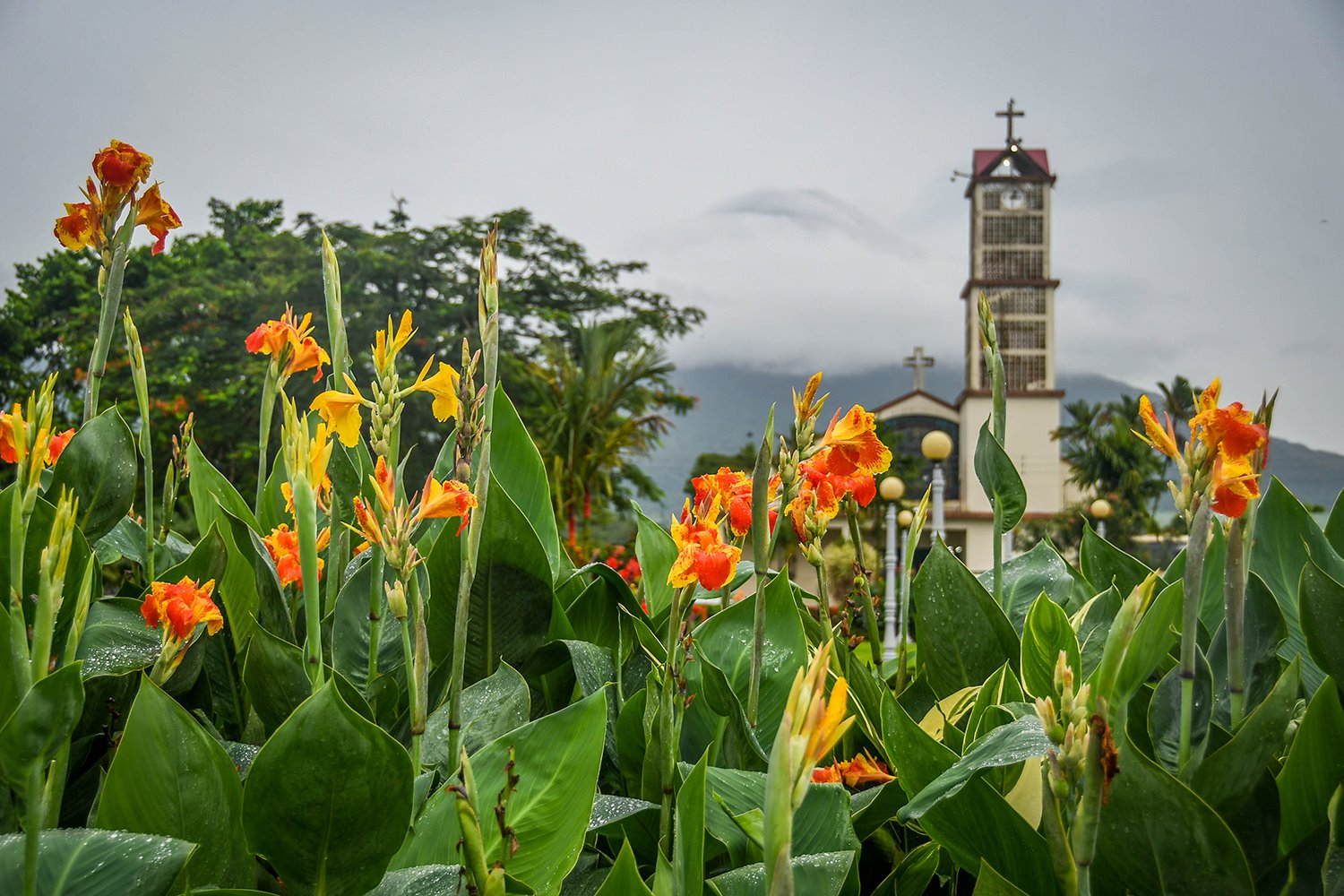 Things to do in Arenal Costa Rica San Juan Church and Volcano