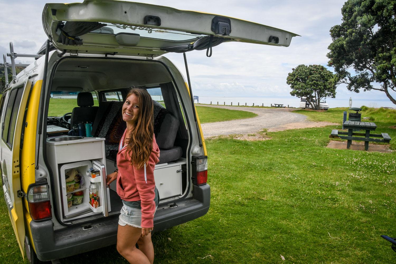 Campervan Rental New Zealand Van Fridge and Sink