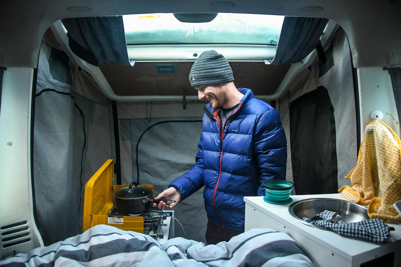 New Zealand Budget Travel Cooking Meals Campervan