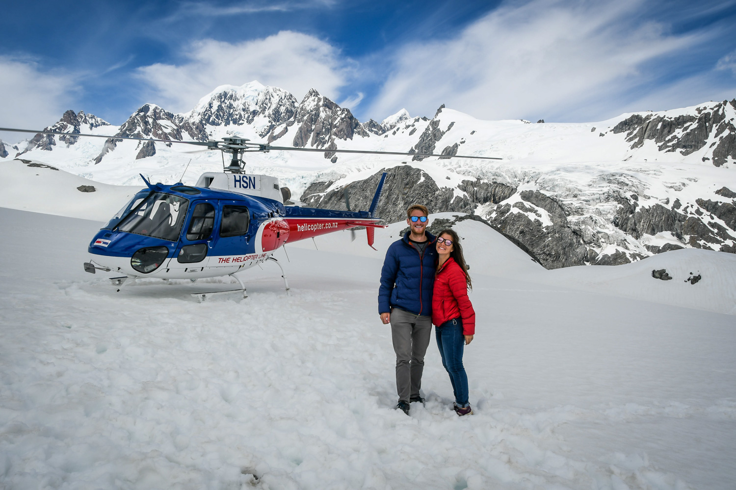 New Zealand Budget Travel Helicopter Ride on a Glacier