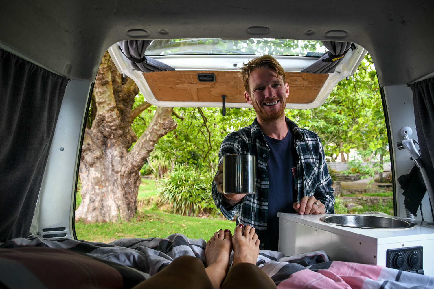 North Island New Zealand Road Trip Campervan Coffee
