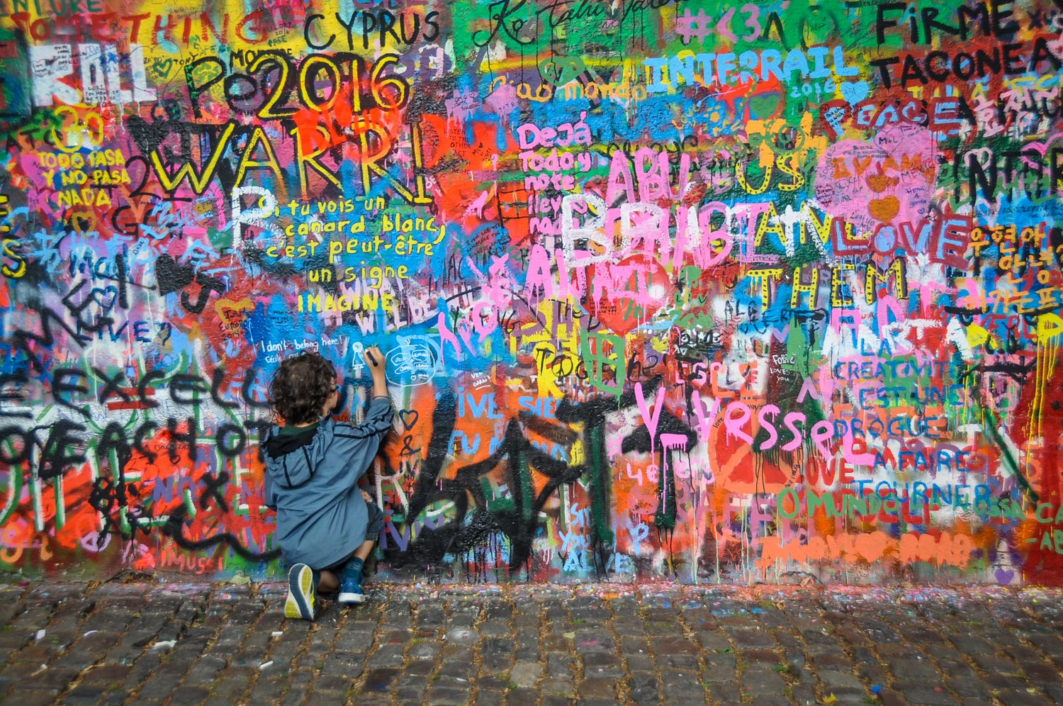 Things to do in Prague Lennon Wall