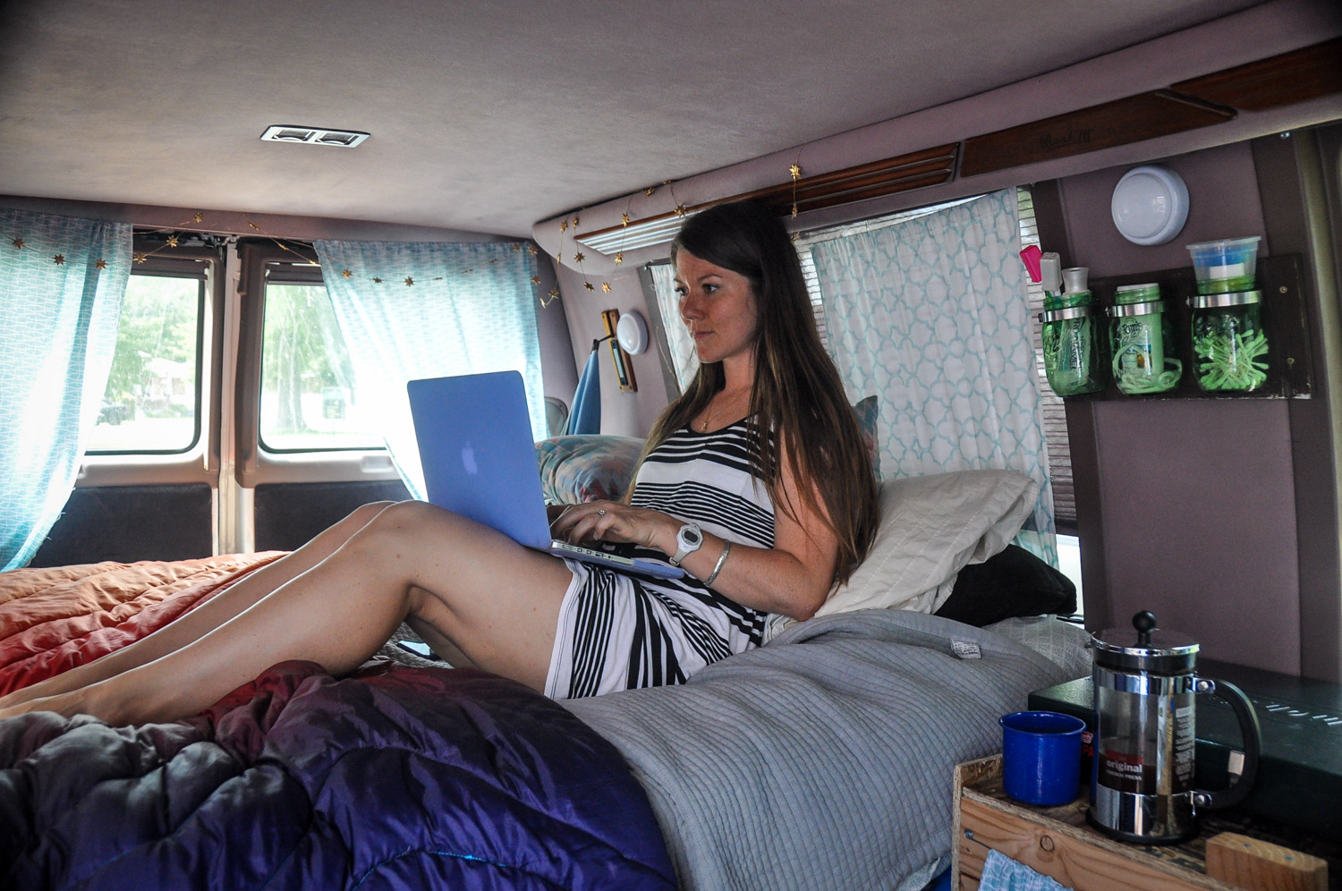 …or you can work from inside a van. The choice is yours!