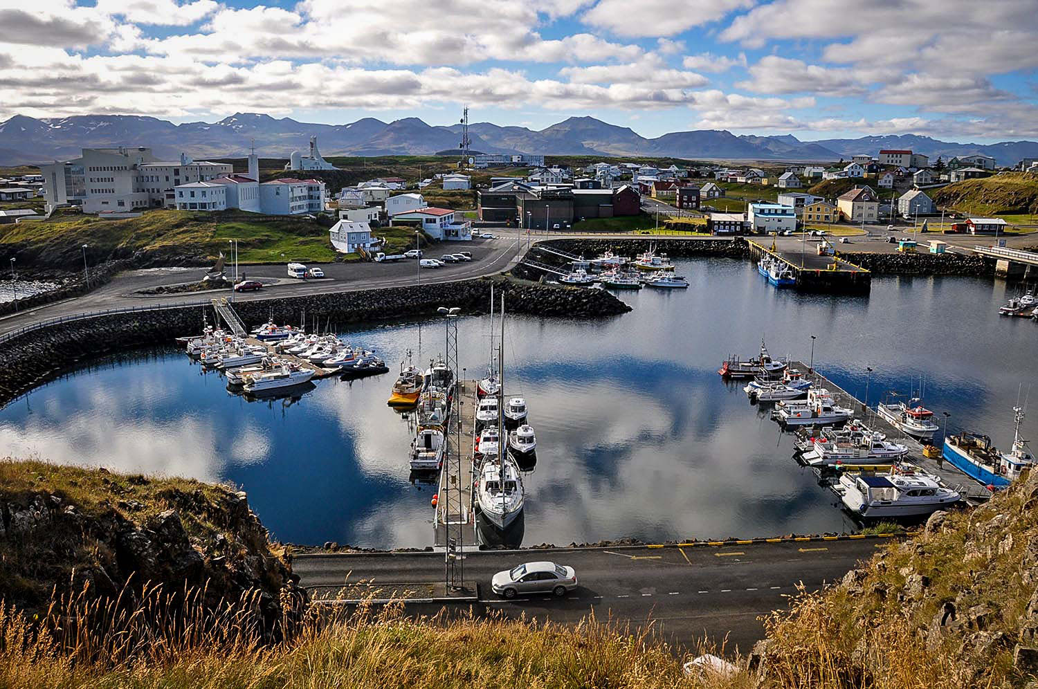 Iceland Car Rental Stykkisholmur Harbor