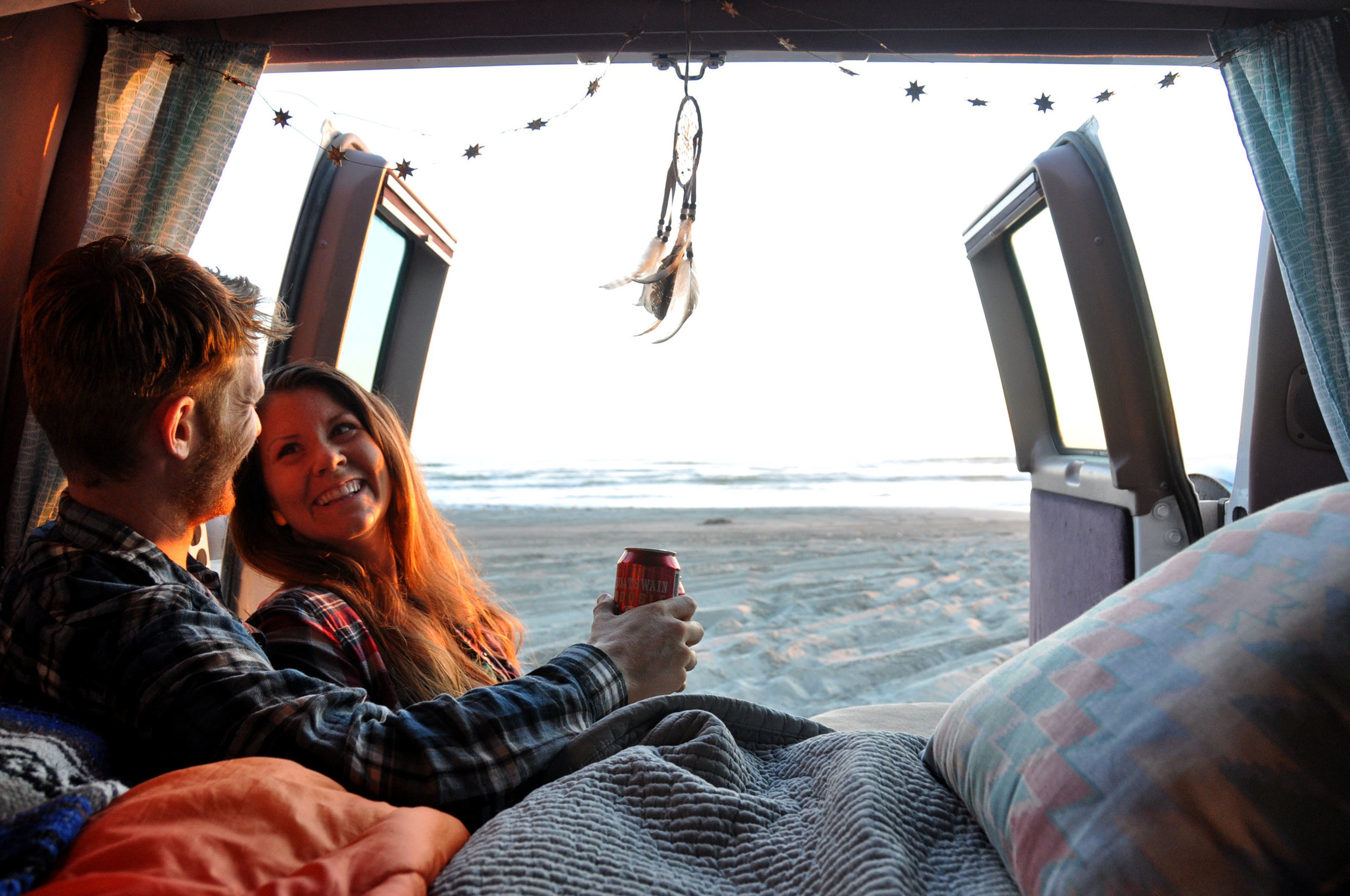 How to become a Travel Blogger Campervan Sunset