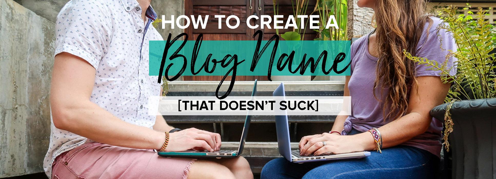 How to create a blog name