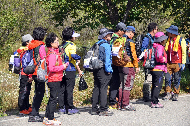 South Korea Neon Hiking Clothes