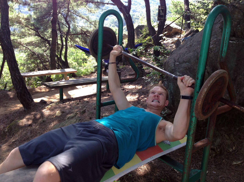 Korean outdoor workout