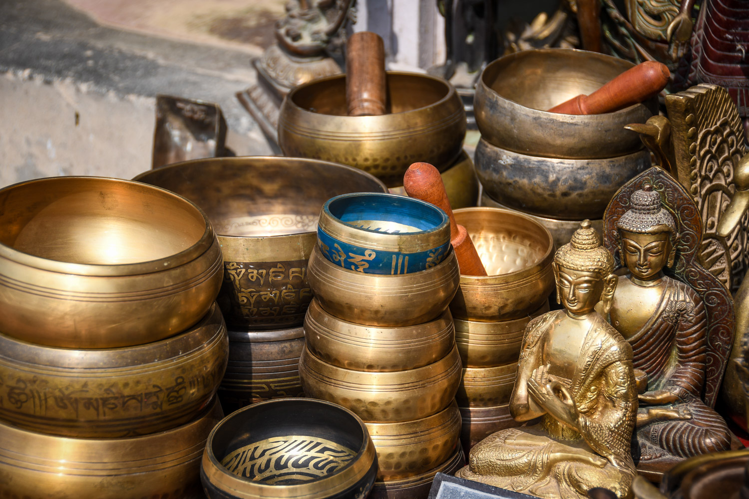 Things to Do in Nepal markets singing Bowls