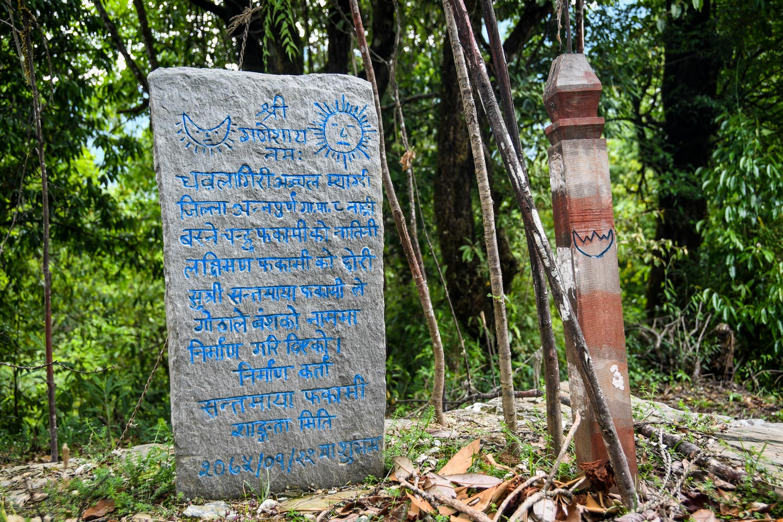 Mohare Danda Trek Tombstone Burial