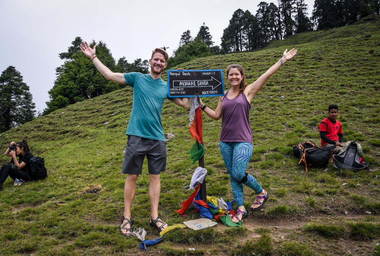 Mohare Danda Trek Sign at viewpoint