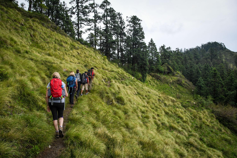 Mohare Danda Trek Hiking group on Trial