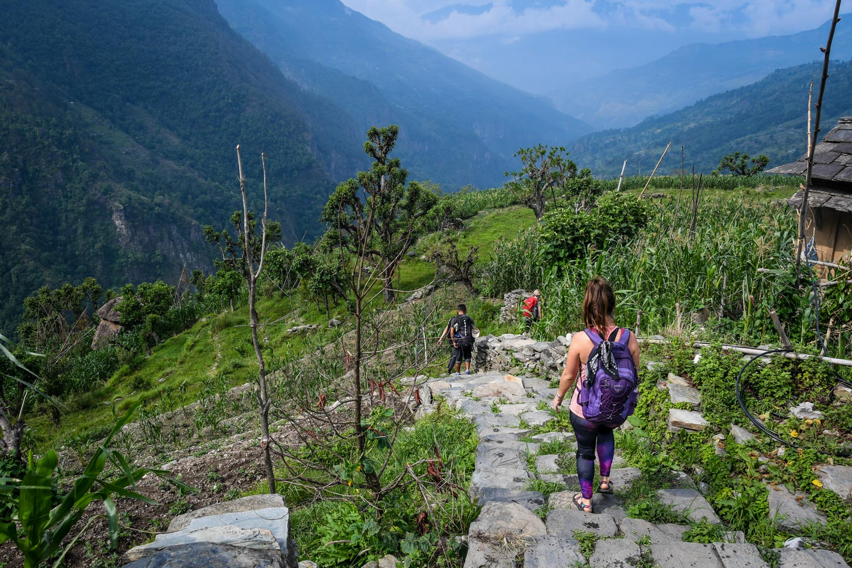 Mohare Danda Trek Hiking Down